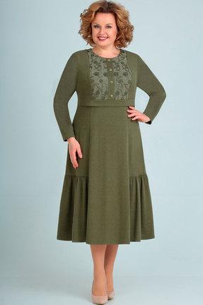 Платье Асолия 2456 хаки