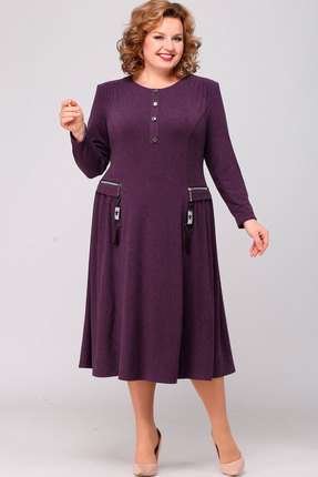 Платье Асолия 2455 баклажан
