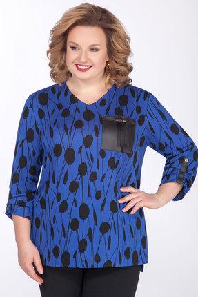 Джемпер Emilia Style А-536 синий с черным