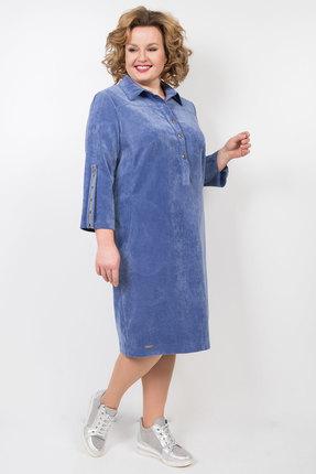 Платье TricoTex Style 49-19 синий фото