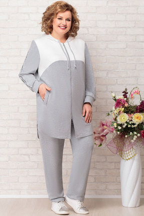 Комплект брючный Aira Style 726 серый