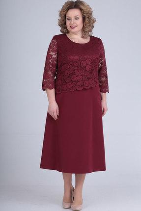 Платье Elga 01-651 бордовый
