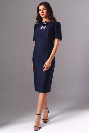 Платье Миа Мода 1126 темно-синий