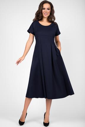 Платье Teffi style 1463 синий фото