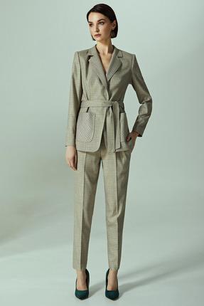 Комплект брючный Denissa Fashion 1162 бежевые тона фото