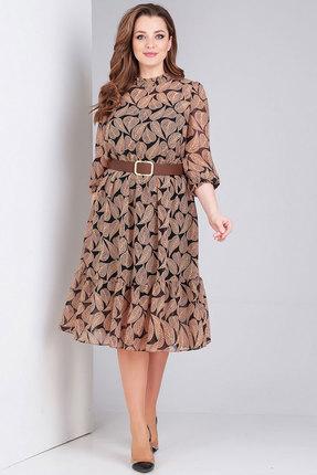 Платье Милора-Стиль 773 коричневый