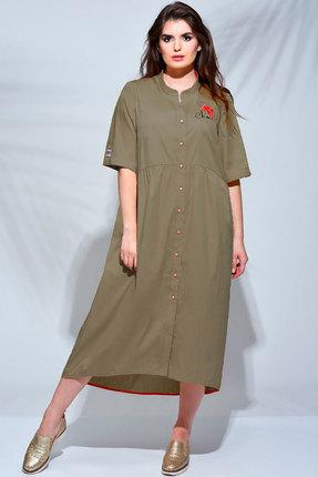 Платье Faufilure с640 хаки