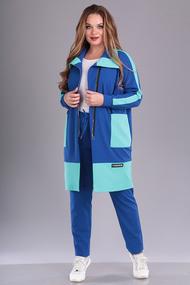 Спортивный костюм Anastasia Mak 692 васильковый