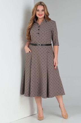 Платье Vasalale 685 коричневые тона фото