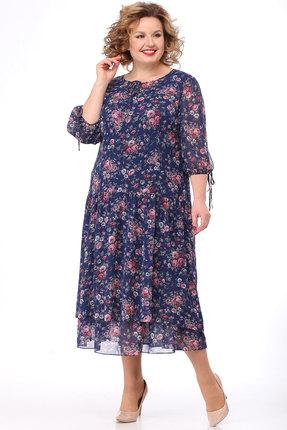 Платье KetisBel 1501 синий фото