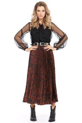 Платье PIRS 927 коричневые тона