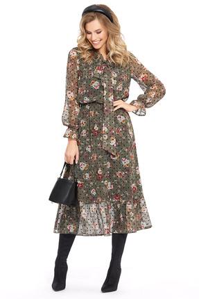 Платье PIRS 943 зеленые тона