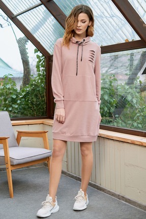 Спортивное платье Фантазия Мод 3602 розовые тона фото