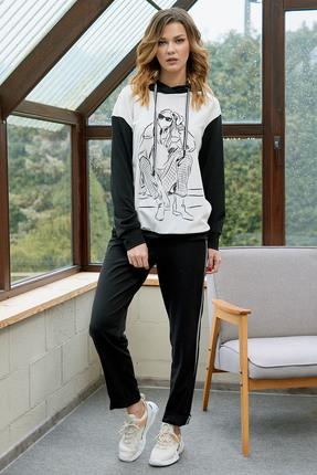 Спортивный костюм Фантазия Мод 3528 черно-белый фото