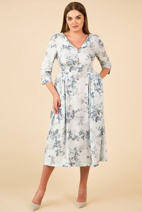 Платье Teffi style 1421 голубые тона фото