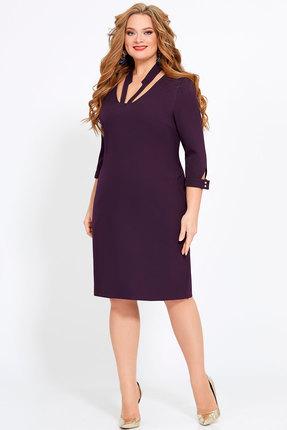 Платье Джерси 1849 фиолетовый