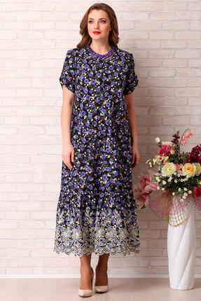 Платье Aira Style 739 синие тона