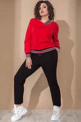 Спортивный костюм Галеан Cтиль 740 красный с черным фото