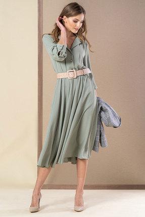 Платье Deesses 1007 серо-бирюзовый