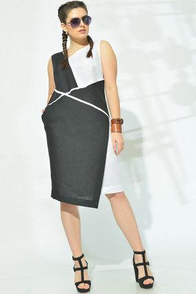 Платье MALI 419-003 чёрно-белый фото