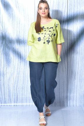 Комплект брючный MALI 719-013 салатовый+синий фото