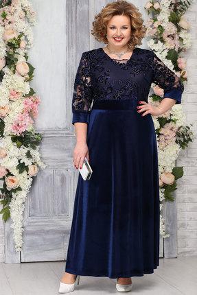 Платье Ninele 7219 тёмно-синий фото