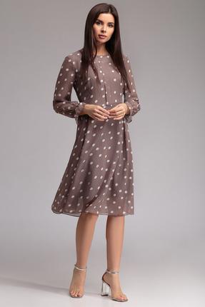 Платье Gizart 7130г темные тона