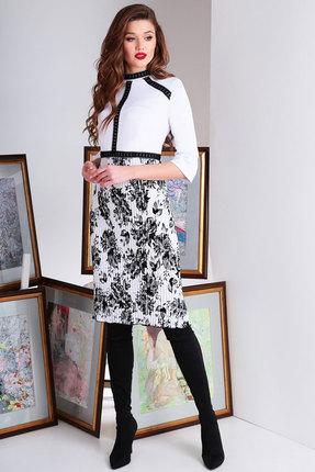 Платье Axxa 55130 белый с черным