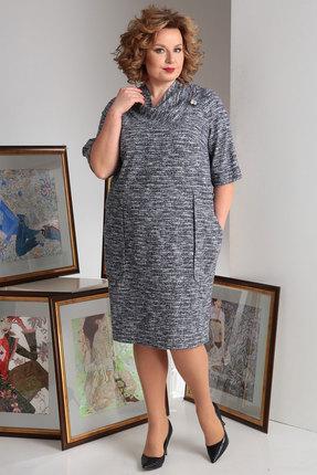 Платье Axxa 54045л синие тона