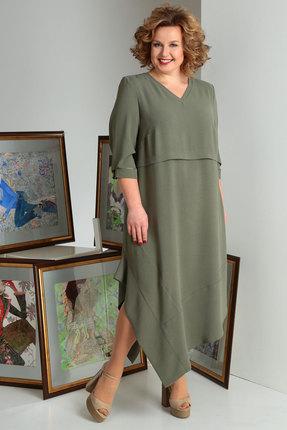 Платье Axxa 55137 олива