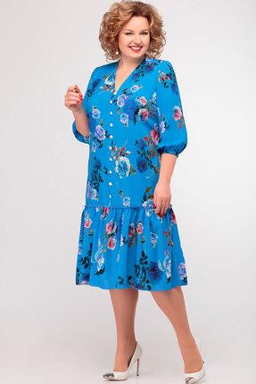 Платье Асолия 2412 васильковый фото