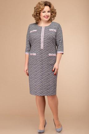 Платье Svetlana Style 1351 серый с розовым