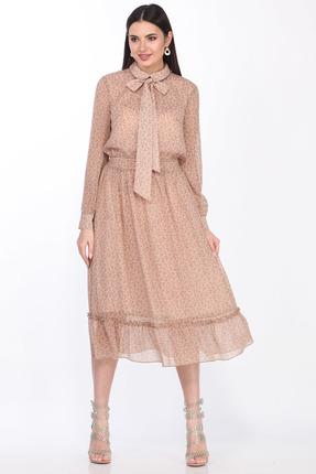 Платье Juliet Style D143 розовые тона