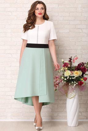 Платье Aira Style 746 мята с молочным