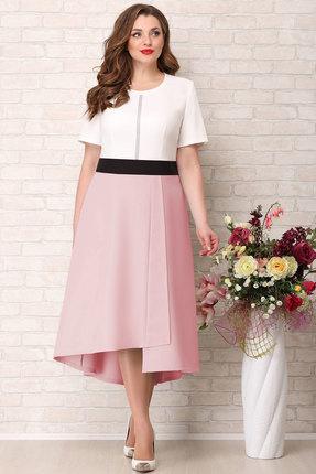Платье Aira Style 746 розовый с молочным