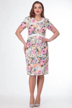 Платье Anelli 240 цветочные тона