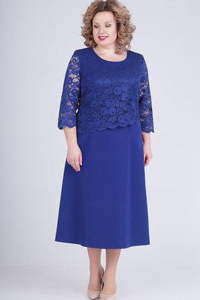 Платье Elga 01-651 василёк