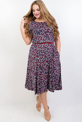 Платье TricoTex Style 14-19 синий с красным фото