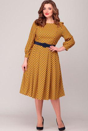 Платье Асолия 2369.2 горчица фото