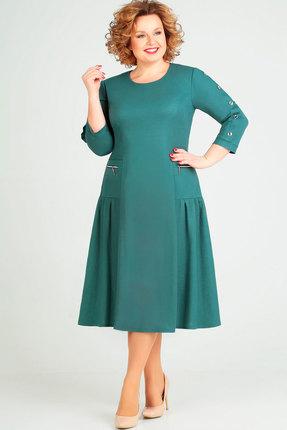 Платье Асолия 2464 бирюзовый фото