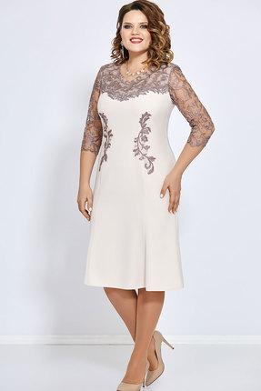 Платье Mira Fashion 4658 светлые тона
