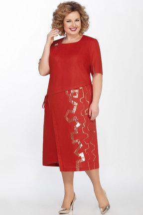 Платье LaKona 1278 терракотовый фото