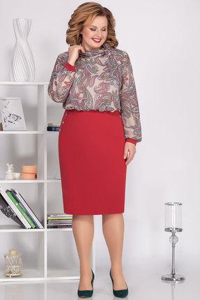 Платье Ivelta plus 1672 красные тона фото