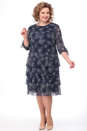 Платье KetisBel 1503 синие тона