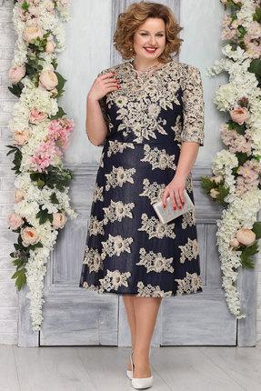 Платье Ninele 5755 тёмно-синий