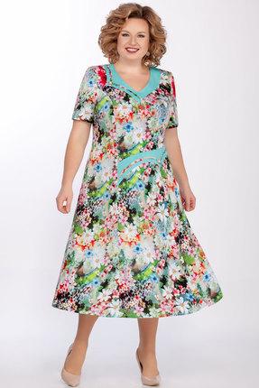 Платье Медея и К 2021 бирюза фото
