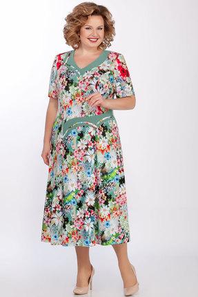 Платье Медея и К 2021 олива фото
