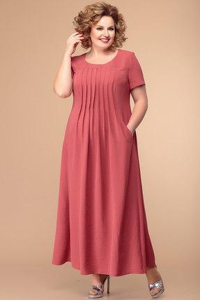 Платье Romanovich style 1-1826 кораллово-красный