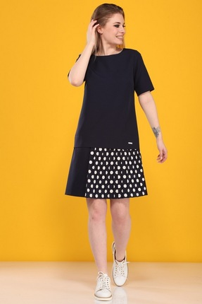 Платье B&F 2080 синий фото