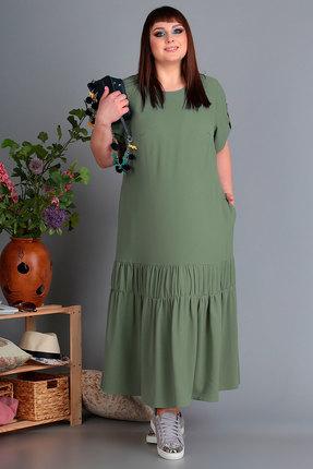 Платье Algranda 3461 олива фото